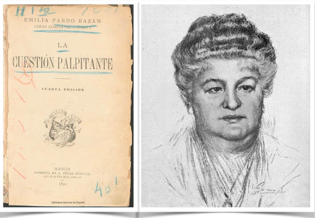 Emilia Pardo Bazán, escritora y periodista que introdujo el naturalismo en España.