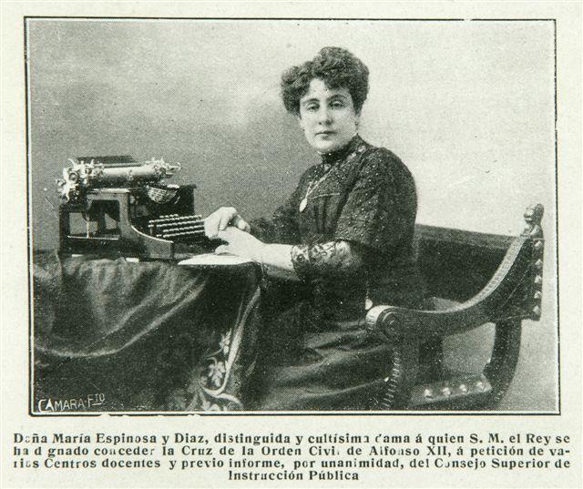 """María Espinosa: """"El feminismo es redención de la mujer, perfección de las sociedades y elevación de laHumanidad""""."""